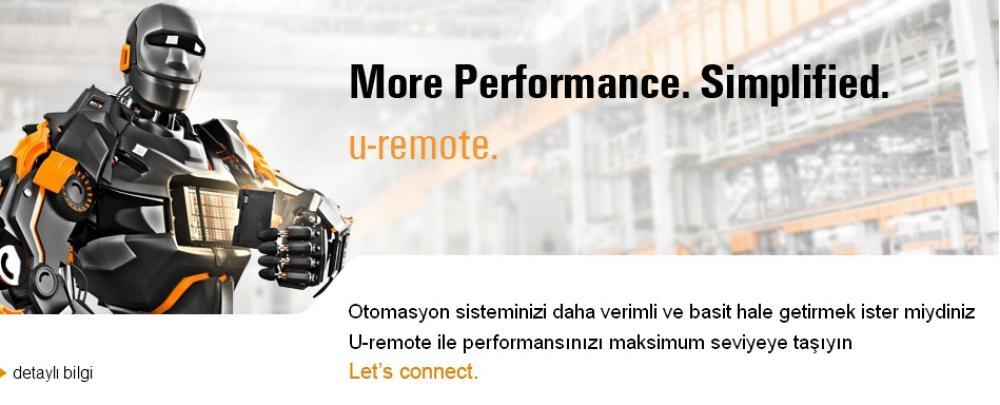 Weidmüller U-Remote PLC I-O SAI Endüstriyel Ethernet Frontcom